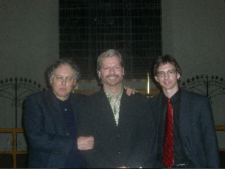 Brian with Carlo Pezzimenti and Aaron Cotten post-performance of Brian's Contes Normands in Denton, Tx.